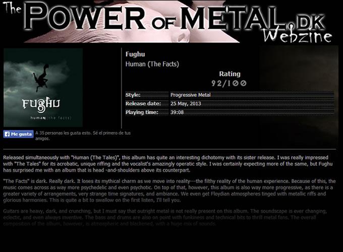 Power of Metal Fughu reviewl